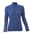 Women's Long Sleeve Mock 1/4 Zip Shirt