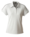 Ladies Bamboo Charcoal Golf Shirt with Piping