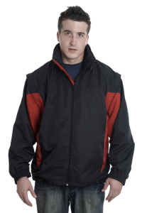 Separable Jacket with Concealed Hood