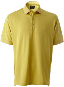 Mens Mini Checkered Tone-on-Tone Golf Shirt
