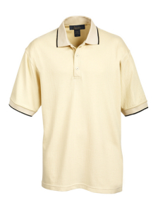 Mens Vertical Strip Poly/Cotton Golf Shirt